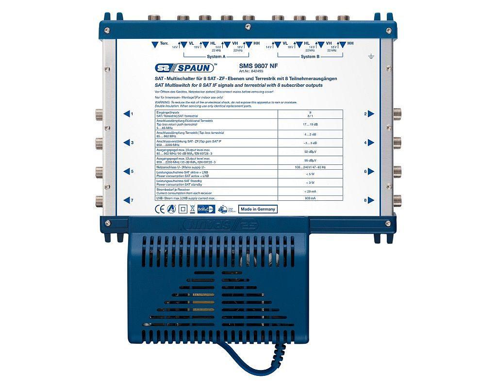 Spaun Multischalter SMS 9807 NF 9/8